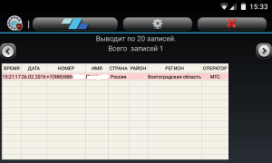 Таблица входящих звонков Инфо НомерGsm-obzor.ru